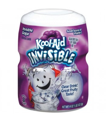 Clearance Special - Kool Aid Invisible Grape 19oz Tub 538g **Best Before: 03 September 17** Clearance Zone