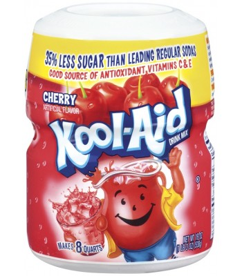 Kool Aid Cherry Drink Mix Tub 19oz (538g) Drink Mixes Kool Aid