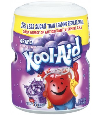 Kool Aid Sugar Sweetened Grape 538g Tub Drink Mixes Kool Aid