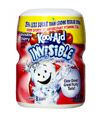Kool Aid Invisible Cherry Drink Mix Tub 19oz (538g) Drink Mixes Kool Aid