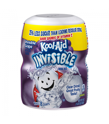 Kool Aid Invisible Grape Drink Mix Tub 19oz (538g) Drink Mixes Kool Aid