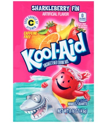Kool Aid Sharkleberry Fin Sachet 0.16oz (4.6g) Drink Mixes Kool Aid