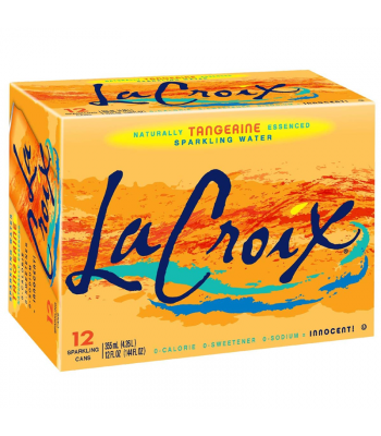 La Croix Tangerine 12-Pack (12 x 12fl.oz (355ml)) Soda and Drinks La Croix