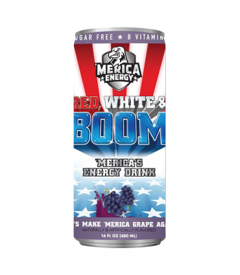 'Merica Energy Red White & Boom - Lets Make 'Merica GRAPE Again - 16fl.oz (480ml)