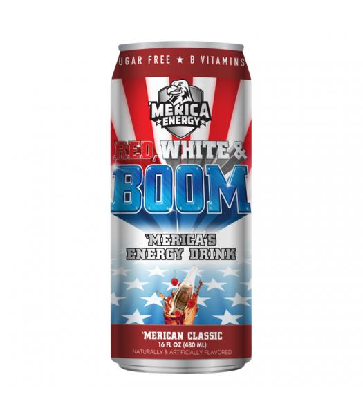 'Merica Energy Red White & Boom - 'Merican Classic - 16fl.oz (480ml)  Soda and Drinks