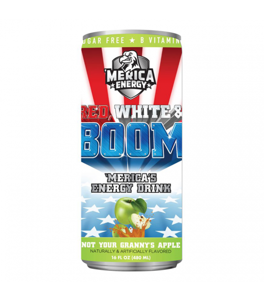 'Merica Energy Red White & Boom - Not Your Granny's Apple - 16fl.oz (480ml)