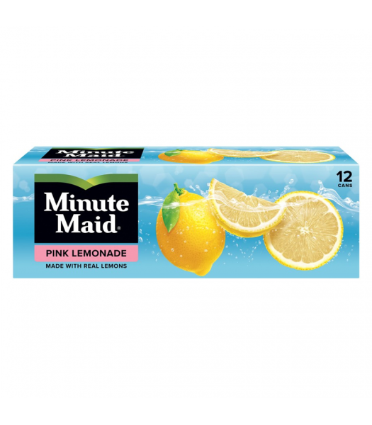 Minute Maid Pink Lemonade - 12-Pack (12 x 12fl.oz (355ml)) Soda and Drinks Minute Maid