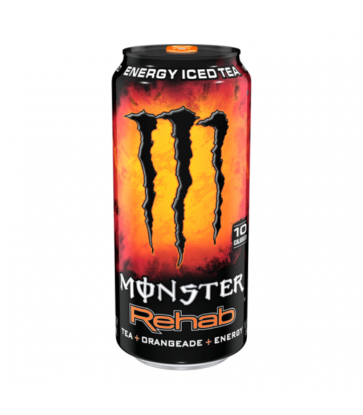 Monster Energy Rehab Orangeade 15.5oz (458ml) Soda and Drinks Monster