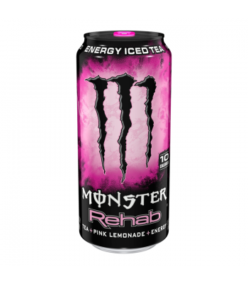 Monster Energy Rehab Pink Lemonade 15.5fl.oz (458ml) Energy & Sports Drinks Monster