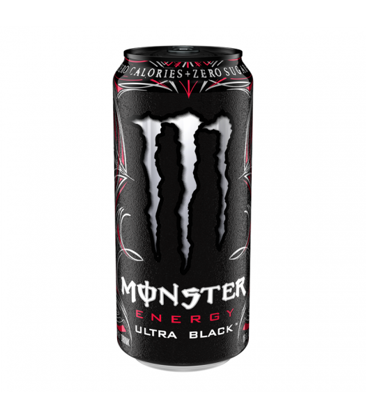 Monster Ultra Black Zero Cherry 16oz (473ml) Can Energy & Sports Drinks Monster