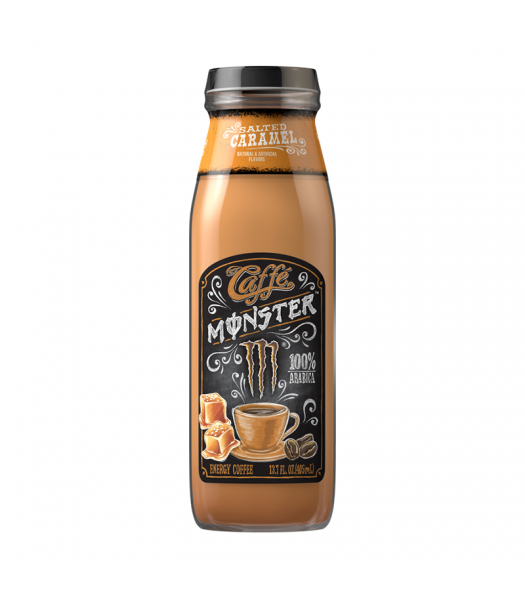 Monster Caffé Salted Caramel - 13.7fl.oz (405ml) Soda and Drinks Monster
