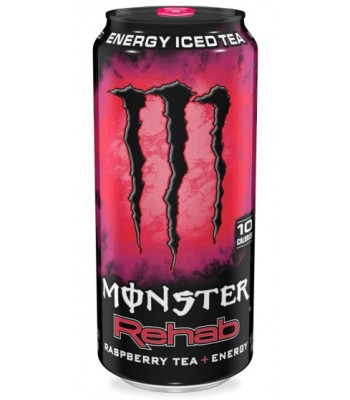 Monster Energy Rehab Raspberry 15.5oz (458ml) Energy & Sports Drinks