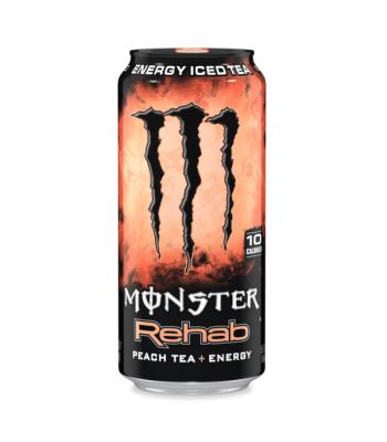 Monster Rehab Peach Tea - 15.5fl.oz (458ml) [Old Design Can] Soda and Drinks Monster