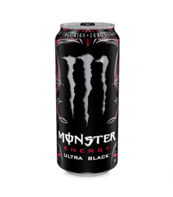 Monster Ultra Black Zero Cherry 16oz (473ml) Can