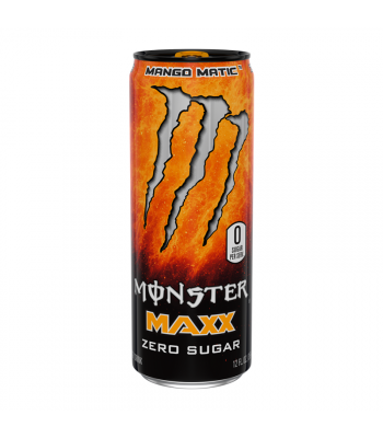 Monster Energy MAXX Mango Matic Zero Sugar - 12fl.oz (355ml) Soda and Drinks Monster
