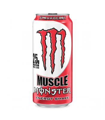 Monster Muscle Monster Strawberry 473ml Soda and Drinks Monster