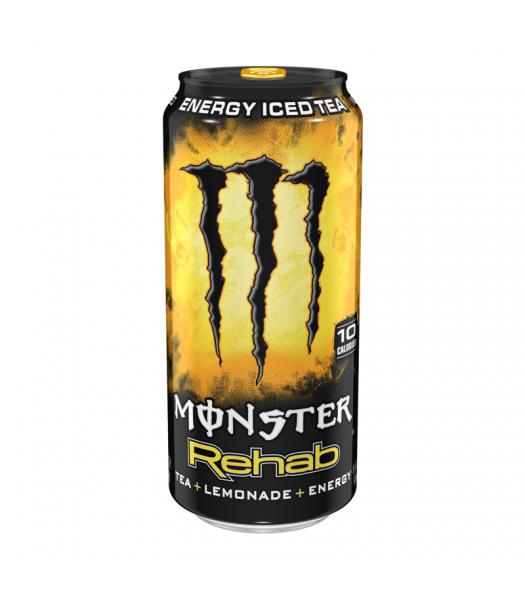 Monster Rehab Lemonade - 15.5fl.oz (458ml) Soda and Drinks Monster