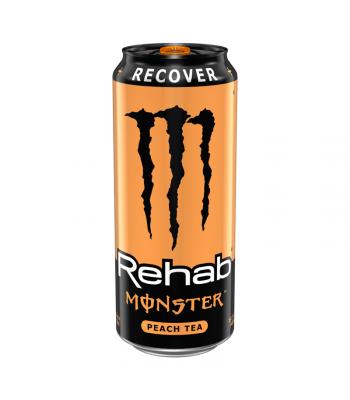 Monster Rehab Peach Tea - 15.5fl.oz (458ml) Energy & Sports Drinks Monster