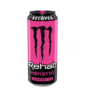 Monster Rehab Raspberry Tea - 15.5fl.oz (458ml) Energy & Sports Drinks Monster