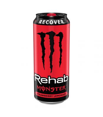 Monster Rehab Strawberry Lemonade - 15.5fl.oz (458ml) Soda and Drinks Monster