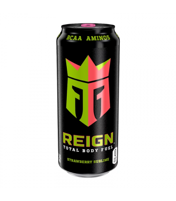 Reign Total Body Fuel Strawberry Sublime - 16oz (473ml) Soda and Drinks Monster