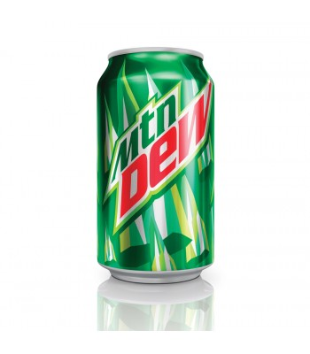 Clearance Special - Mountain Dew Original 12oz 355ml ** Slight Damage ** June 2017 ** Clearance Zone