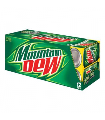 Mountain Dew Original 355ml Cans 12-Pack Regular Soda Mountain Dew