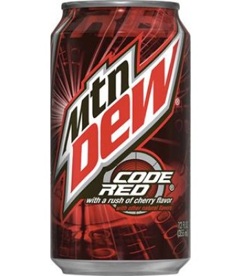 Mountain Dew Code Red 355ml cant