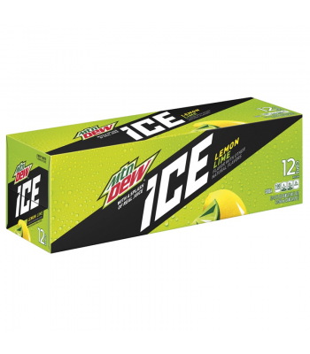 Mountain Dew Ice Lemon Lime - 12-Pack (12 x 12fl.oz (355ml)) Soda and Drinks Mountain Dew