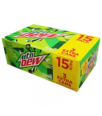 Mountain Dew Original Cans 12fl.oz (355ml) - 15-Pack Soda and Drinks Mountain Dew