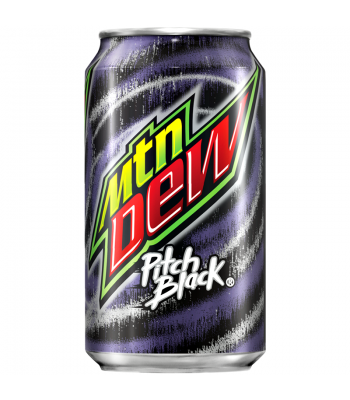 Clearance Special - Mountain Dew Pitch Black 355ml ** Damaged **  Clearance Zone