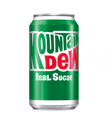 Mountain Dew Real Sugar (Throwback) - 12fl.oz (355ml) Soda and Drinks Mountain Dew