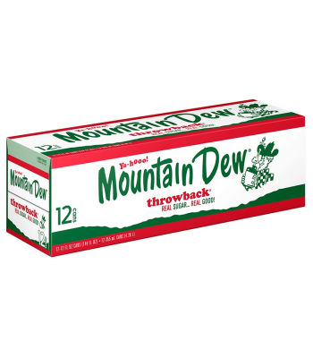 Mountain Dew Throwback - 12-Pack (12 x 12fl.oz (355ml)) Soda and Drinks Mountain Dew