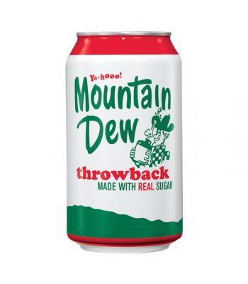 Mountain Dew Throwback - 12fl.oz (355ml) Soda and Drinks Mountain Dew