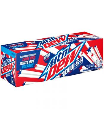 Mountain DewSA Limited Edition 12fl.oz (355ml) Cans - 12-Pack Regular Soda Mountain Dew