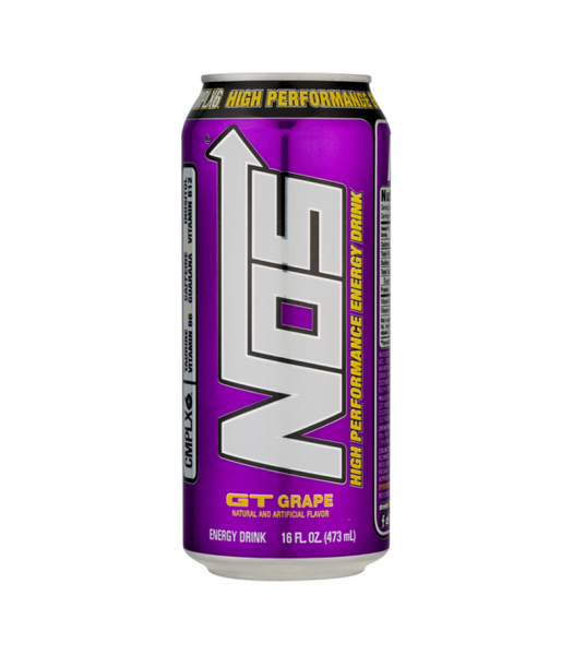 NOS GT Grape High Performance Energy Drinks - 16oz (473ml) Soda and Drinks
