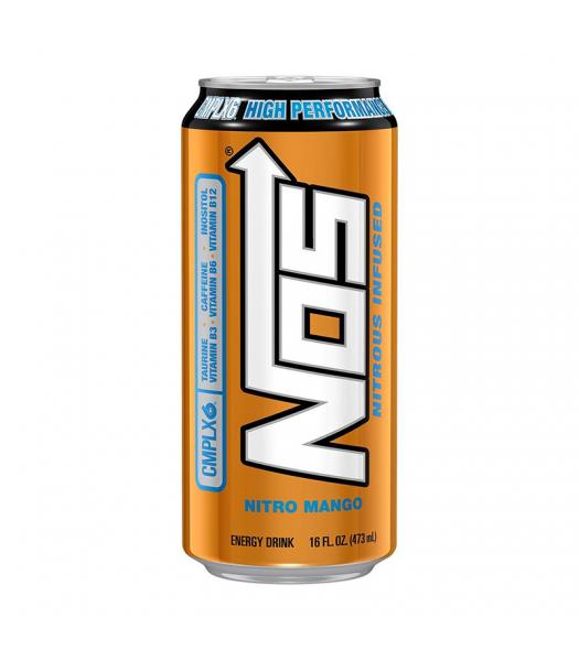 NOS Nitro Mango High Performance Energy Drinks - 16oz (473ml) Soda and Drinks