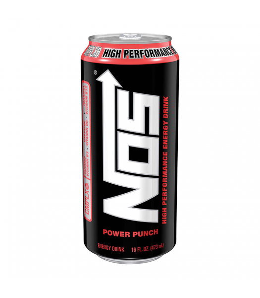 NOS Power Punch High Performance Energy Drink - 16oz (473ml) Soda and Drinks