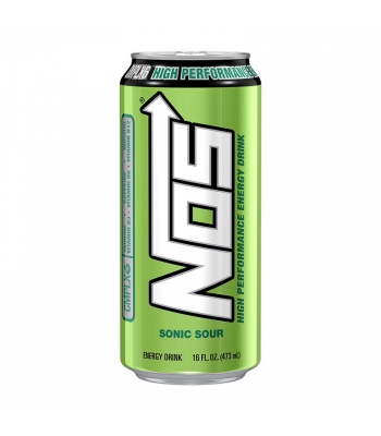 NOS Sonic Sour High Performance Energy Drink - 16oz (473ml) Soda and Drinks