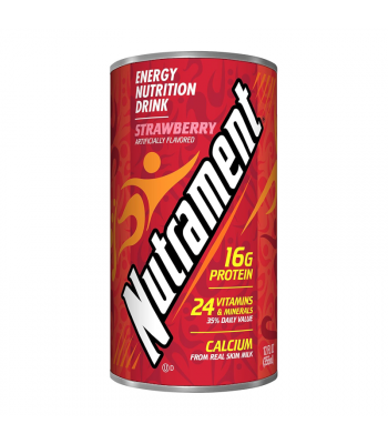 Nutrament Complete Nutrition Drink Strawberry - 12oz (355ml) Soda and Drinks