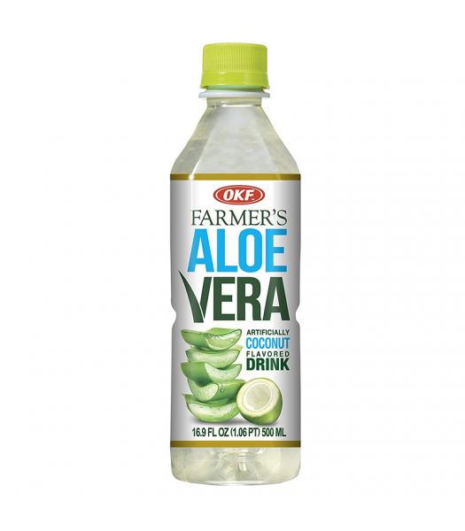OKF Farmer's Aloe Vera Coconut Flavoured Drink - 16.9oz (500ml) Soda and Drinks