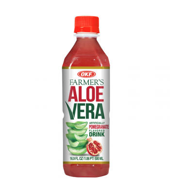 OKF Farmer's Aloe Vera Strawberry Flavoured Drink - 16.9oz (500ml) Soda and Drinks