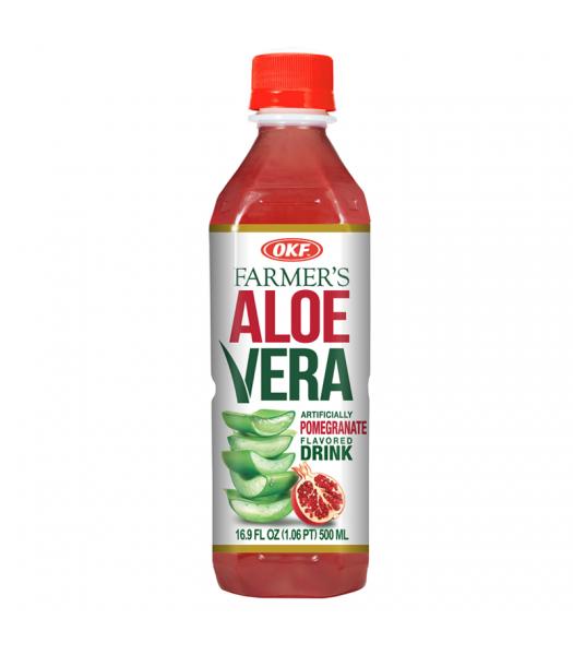 OKF Farmer's Aloe Vera Strawberry Flavoured Drink - 16.9oz (500ml) Soda and Drinks