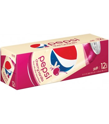 Pepsi Cherry Vanilla 12fl.oz (355ml) Cans - 12-Pack  Soda and Drinks Pepsi