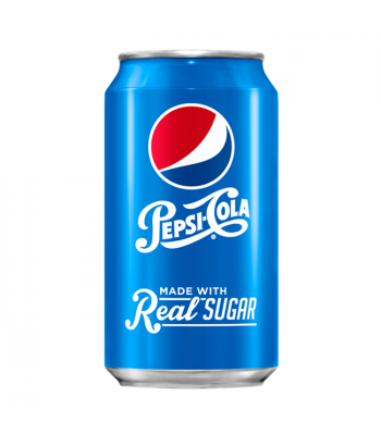 Pepsi Cola Made with Real Sugar (Throwback) 355ml Can Regular Soda Pepsi