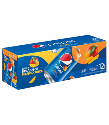 Clearance Special - Pepsi Mango - 12-Pack (12 x 12fl.oz (355ml)) **Best Before: 27 September 21** Clearance Zone