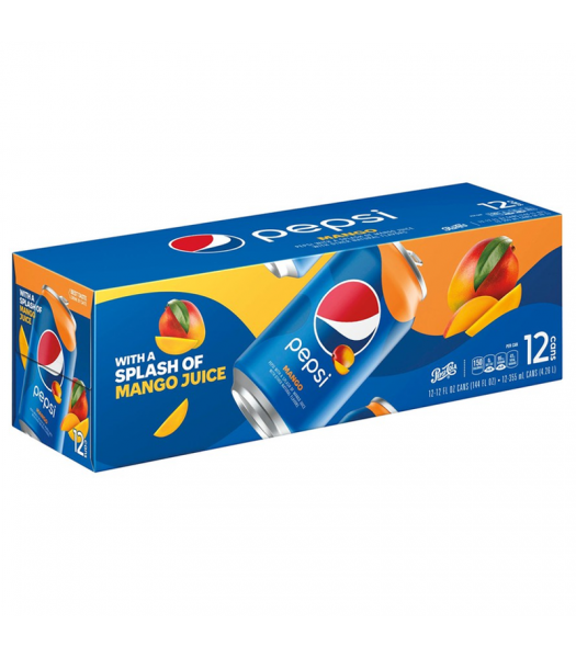 Pepsi Mango - 12-Pack (12 x 12fl.oz (355ml)) Soda and Drinks Pepsi