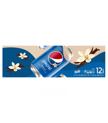 Pepsi Vanilla - 12-Pack (12 x 12fl.oz (355ml)) Soda and Drinks Pepsi