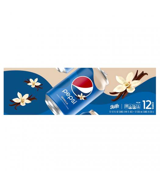 Pepsi Vanilla - 12-Pack (12 x 12fl.oz (355ml)) Soda and Drinks Pepsi