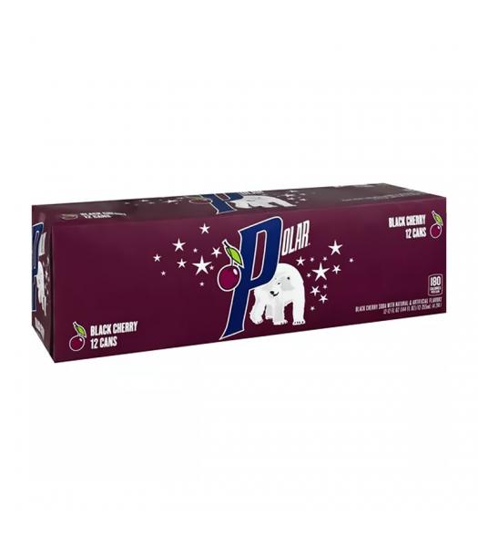 Polar Soda Black Cherry 12-Pack (12 x 12fl.oz (355ml)) Soda and Drinks Polar